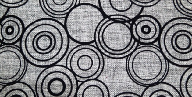 Circle Pattern Flocking Modern Upholstery Sofa Fabric