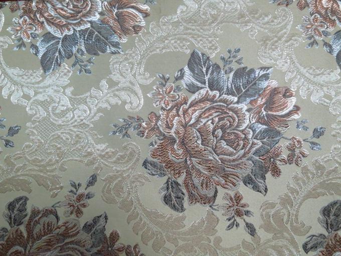 Flower Design Beige Color Jacquard Upholstery Sofa Fabric Uk