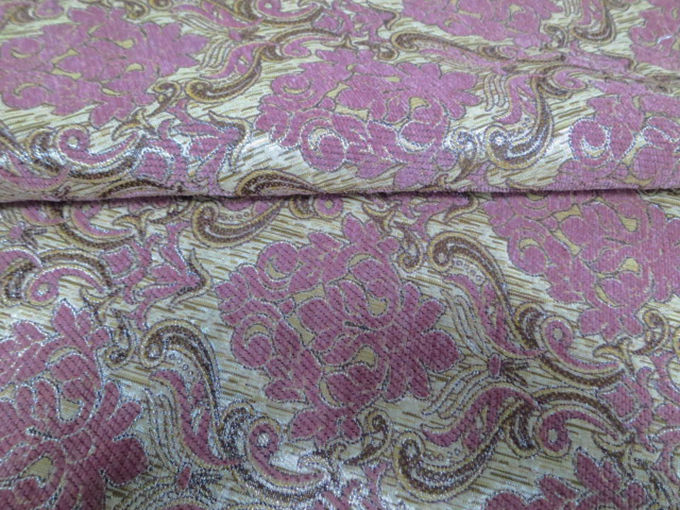 jacquard pink color upholstery chenille sofa cover fabric