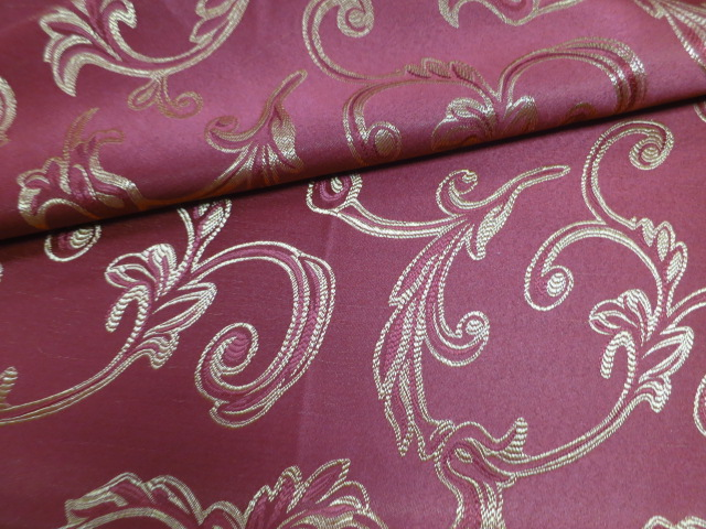 Sofa Fabric Upholstery Fabric Curtain Fabric Manufacturer Red Damask