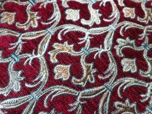 red chenille fabric