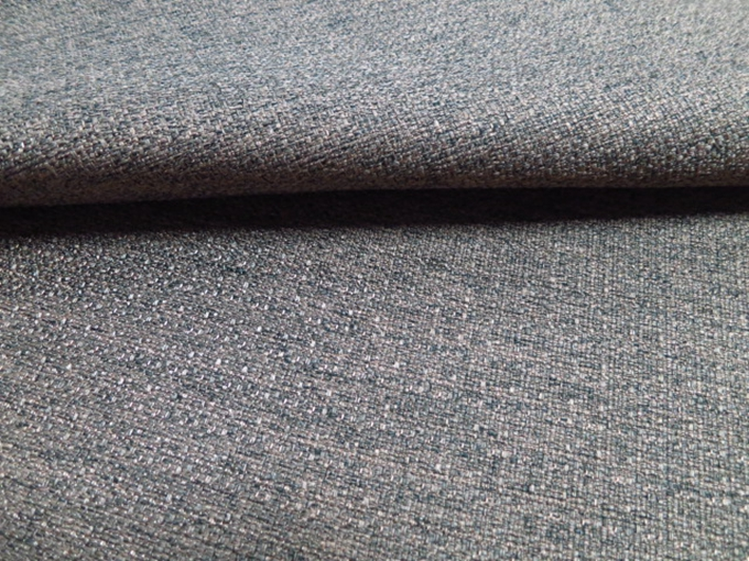 Plain Grey Color 100 Polyester Sofa Fabric