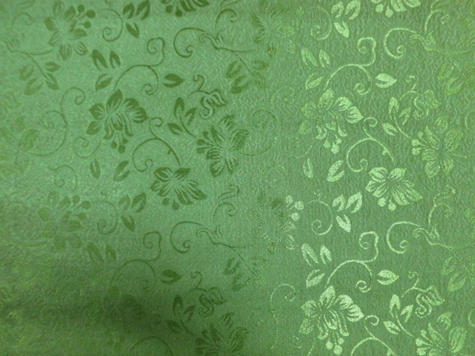 Sofa Fabric Upholstery Fabric Curtain Fabric Manufacturer Polyester Jacquard Small Flower Green Color Curtain Fabric