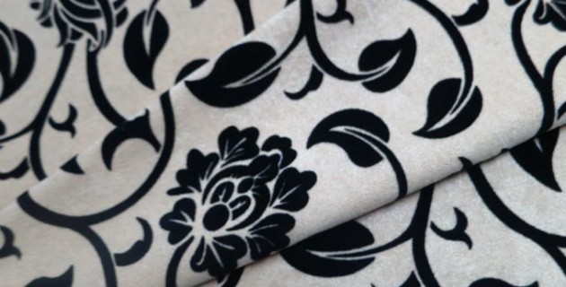 black floral decorator fabric - Decorator Fabric