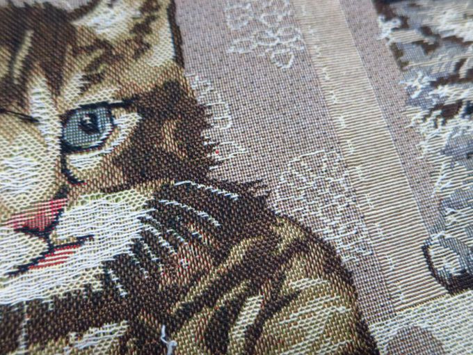 Sofa Fabric,upholstery Fabric,curtain Fabric Manufacturer Printed Woven  Polyester Cat Tapestry Fabric