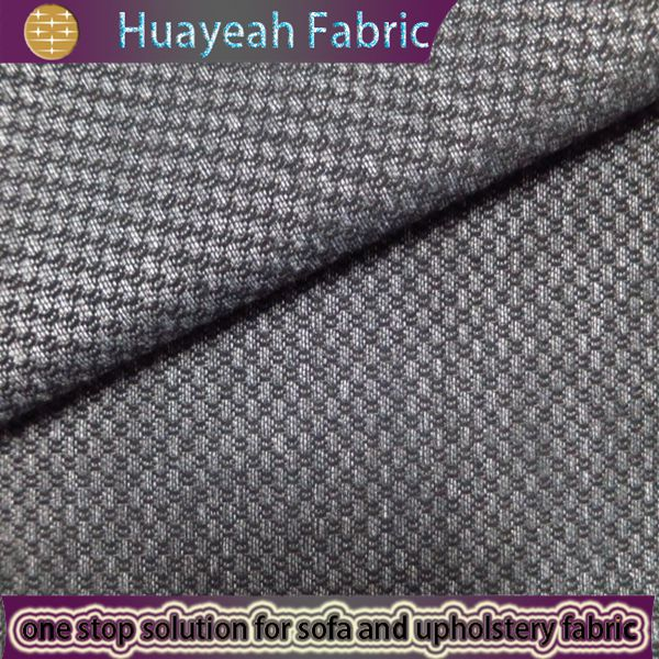 Sofa Fabric Upholstery Curtain Manufacturer Plaid Jacquard Polyester Office Furniture