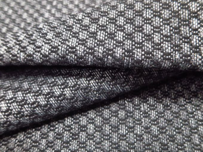 Plaid Jacquard Office Furniture Fabric Polyester Knitted Linen Look Online
