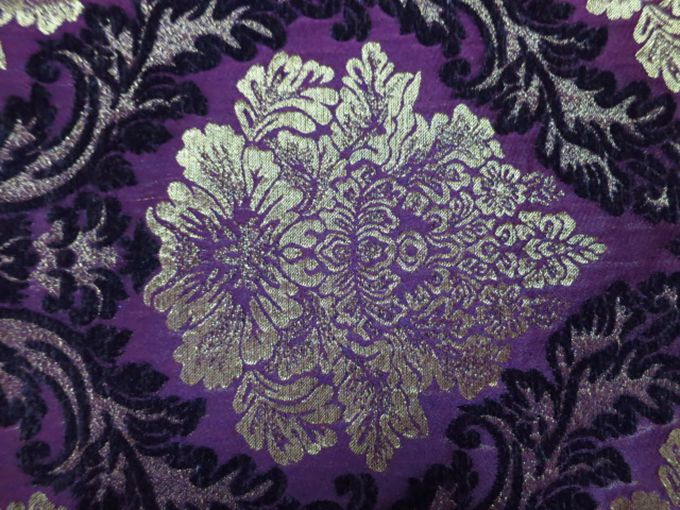 Purple Jacquard Upholstery Material For Chairs