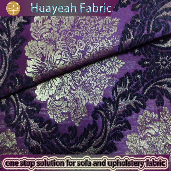 Sofa Fabric,upholstery Fabric,curtain Fabric Manufacturer Purple Jacquard  Upholstery Material For Chairs