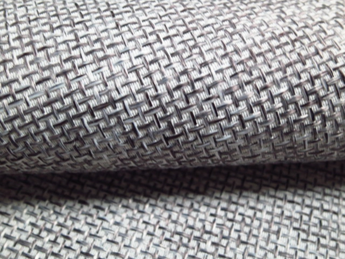 Sofa Fabric Upholstery Fabric Curtain Fabric Manufacturer Polyester Plain Grey Color Auto