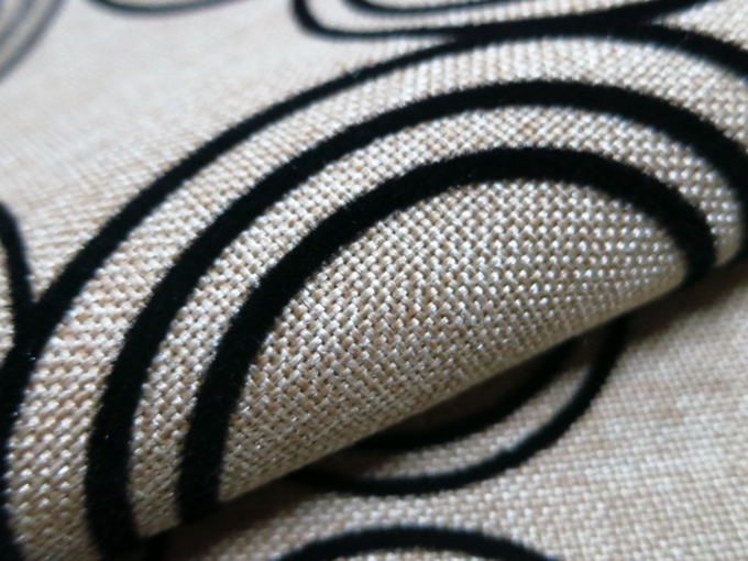 Sofa Fabric Upholstery Fabric Curtain Fabric Manufacturer Flock On