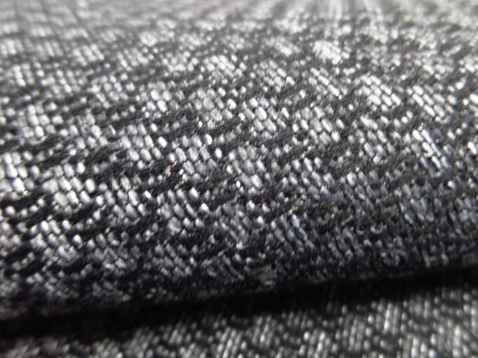 100% Polyester Plain Chenille Black Sherrill Furniture Fabrics