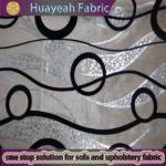 circle pattern velvet fabric flocking textile