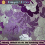 100% polyesteter pink color flower silk burnout velvet fabric