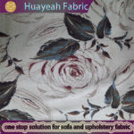 100% Polyester printed flower design thick fabric for curtains