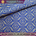 100% polyester jacquard blue color rolls of material for tablecloths
