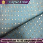 100% polyester yarn dyed shiny fabric green plaid curtains