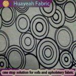circle design nylon flocking faux linen fabric