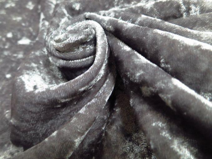 Grey Crushed Sofa Covers Velvet Fabric