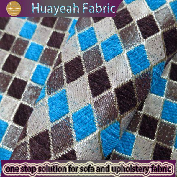 Sofa Fabric Upholstery Fabric Curtain Fabric Manufacturer Blue Plaid