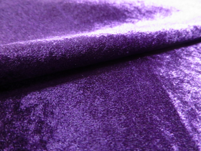 purple shiny velvet super soft fabric sofa