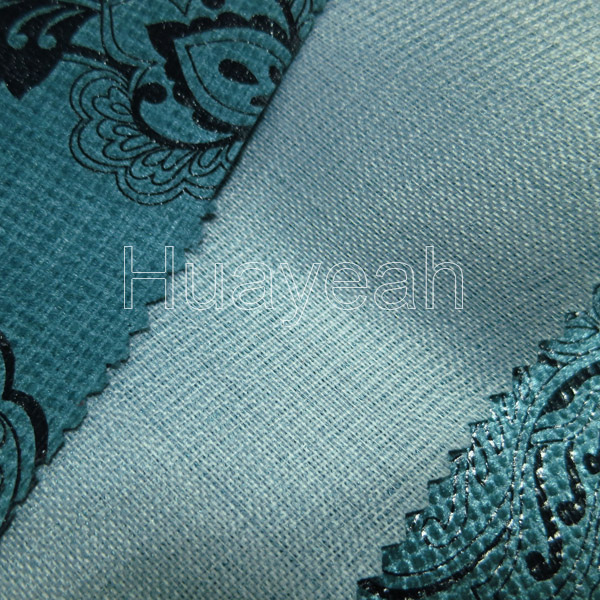 Blue Base Thin Bronzing Velvet Upholstery Fabric Suppliers