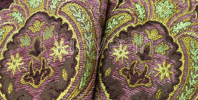Vintage Baroque Chenille Dyed Fabric For Sofa