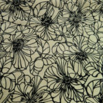 flowers design flocking velvet fabric