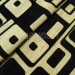 square pattern linen look sofa fabric