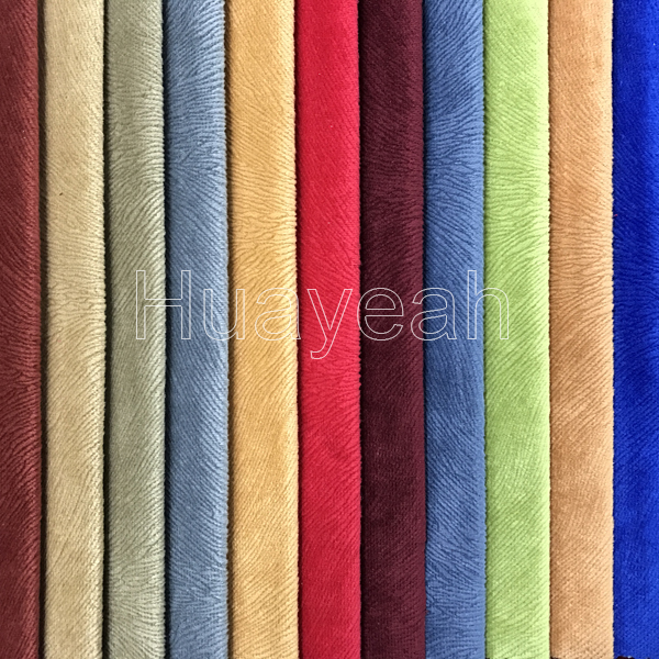 Sofa Fabric Upholstery Fabric Curtain Fabric Manufacturer Striped Burnout Velvet Fabric For