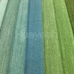 rainbow colors customized dyed linen yarn fabric