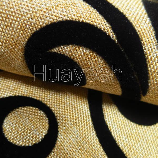 Flocking Por Linen Fabric For Sofas