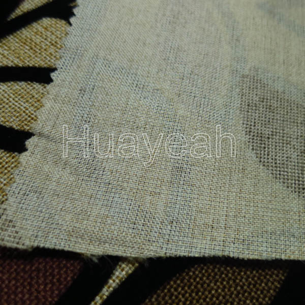 Leaf Design Flocking Types Of Linen Fabric