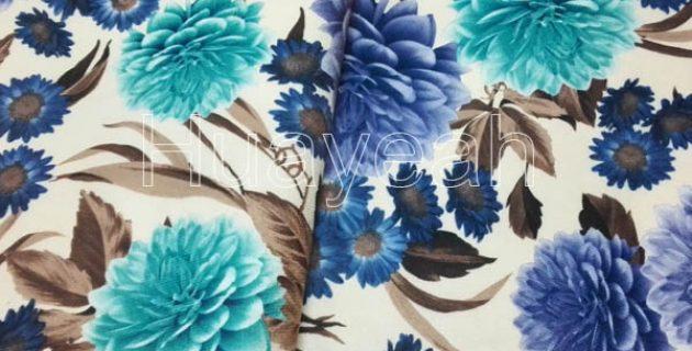 Whole Upholstery Fl Printed Velvet Fabric