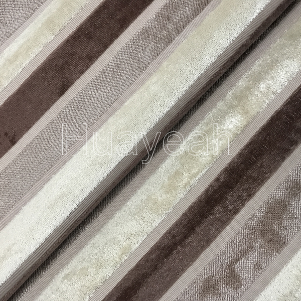 Sofa Fabric Upholstery Fabric Curtain Fabric Manufacturer Jacquard Striped Velvet Upholstery Fabric