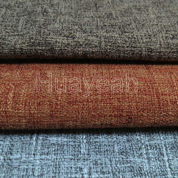 Plain Elegant Linen Look Sofa Fabric