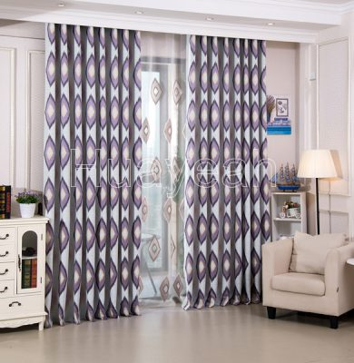 geometric elegant polyester window curtain