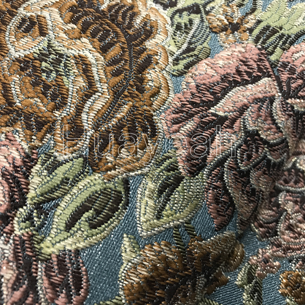 Bon Royal Blue Classic Jacquard Sofa Fabric. Vintage ...