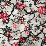 chinese new velvet flower fabric for sofa