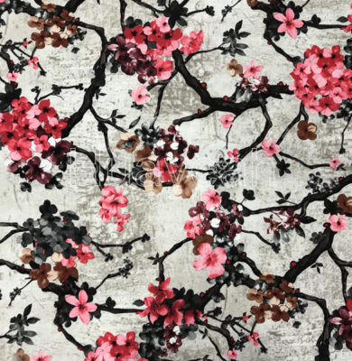 Chinese New Velvet Flower Fabric For Sofa