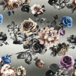 polyester dyeing velvet floral patterns fabric